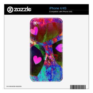 Corazones impresionantes iPhone 4S calcomanías