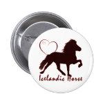 Corazones islandeses del caballo pin