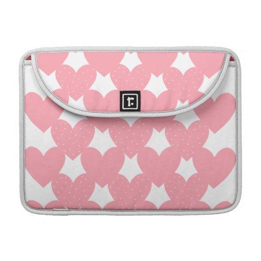Corazones ligados rosa fundas macbook pro