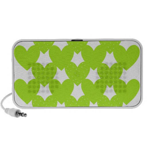 Corazones ligados verde iPhone altavoces