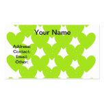 Corazones ligados verde tarjeta de negocio