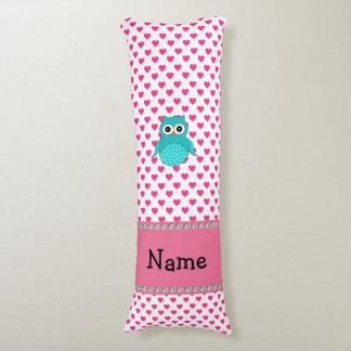 Corazones lindos conocidos personalizados del rosa almohada