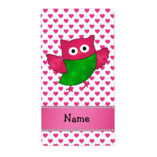 Corazones lindos conocidos personalizados del rosa etiquetas de envío