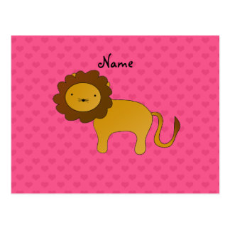 Corazones lindos conocidos personalizados del rosa postales