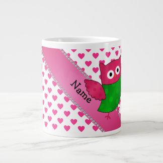 Corazones lindos conocidos personalizados del rosa tazas jumbo