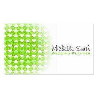 Corazones lindos del amor que casan la tarjeta de tarjetas de visita