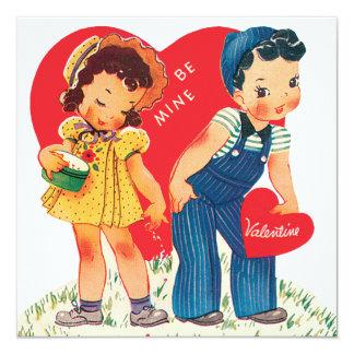 """Corazones lindos del el día de San Valentín, del Invitación 5.25"""" X 5.25"""""""