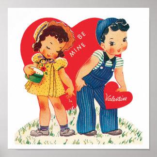 Corazones lindos del el día de San Valentín, del Póster
