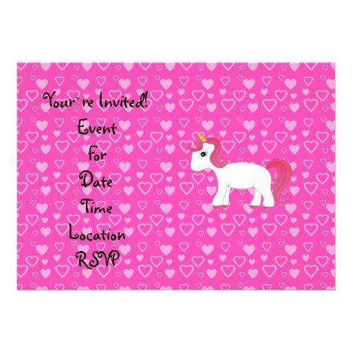 Corazones lindos del rosa del unicornio anuncios