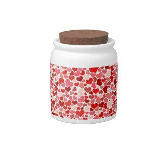 Corazones lindos jarras para caramelos