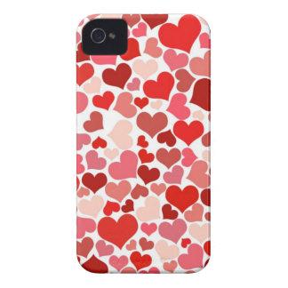 Corazones lindos Case-Mate iPhone 4 carcasa