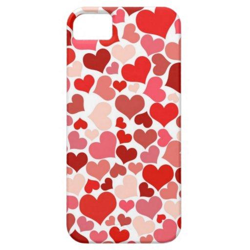 Corazones lindos iPhone 5 carcasas