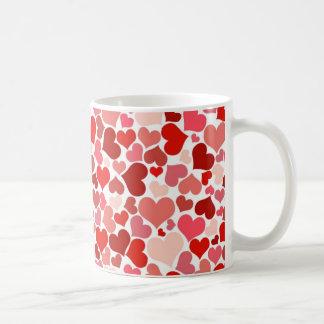 Corazones lindos taza de café