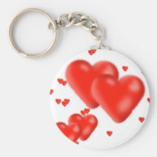 corazones llavero redondo tipo pin