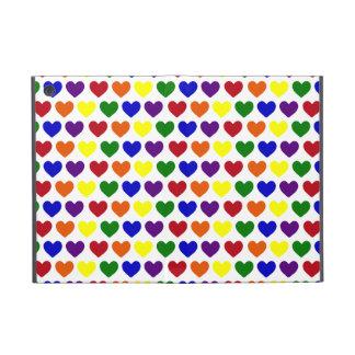Corazones minúsculos del arco iris iPad mini cárcasas