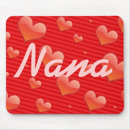 Corazones Mousepad de Nana