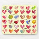 Corazones Mouspad del día de San Valentín Tapetes De Ratón