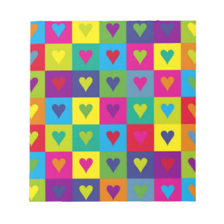 Corazones multicolores blocs de notas