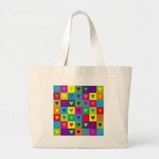 Corazones multicolores bolsas