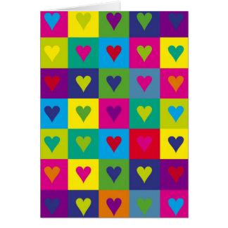 Corazones multicolores felicitaciones