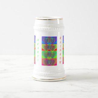 Corazones múltiples del arco iris taza de café