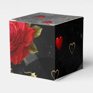 Corazones negros del Grunge con el rosa rojo Caja Para Regalos De Fiestas