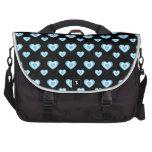Corazones negros y azules bolsas de portátil