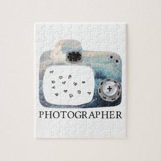 Corazones nublados de la cámara del fotógrafo