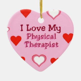 Corazones: Ornamento del terapeuta físico Adorno Navideño De Cerámica En Forma De Corazón