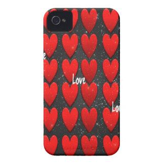 Corazones oscuros - amor de la galaxia Case-Mate iPhone 4 protectores
