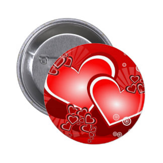 Corazones para el amor pin redondo de 2 pulgadas