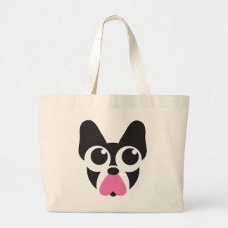 Corazones para los perritos bolsas lienzo