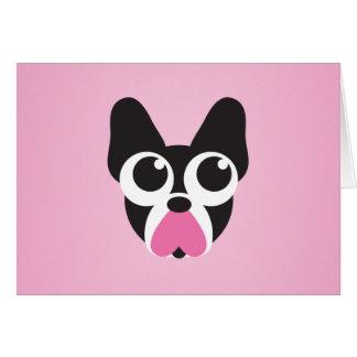 Corazones para los perritos tarjeta de felicitación
