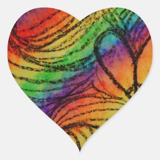 corazones pegatina en forma de corazón