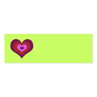 Corazones Placecards de la jerarquización Tarjetas De Visita Mini