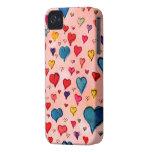 Corazones preciosos iPhone 4 protectores
