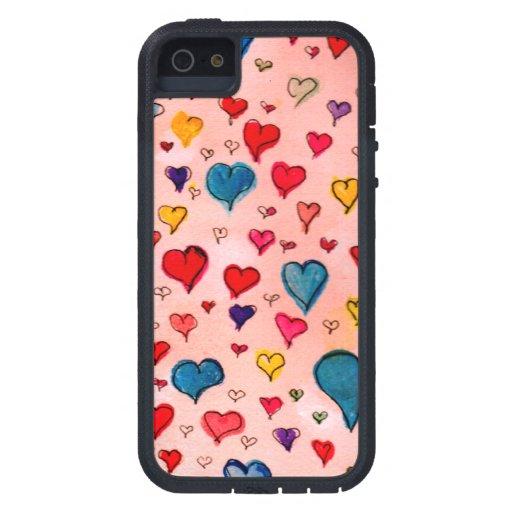 Corazones preciosos iPhone 5 Case-Mate protectores