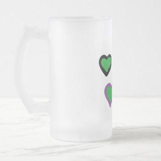 corazones preciosos para usted taza de cristal