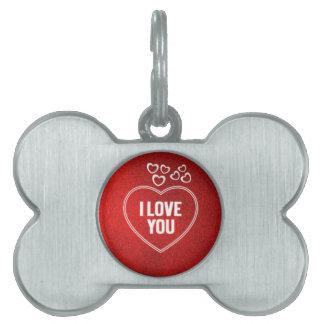 corazones preciosos rojos placas de mascota