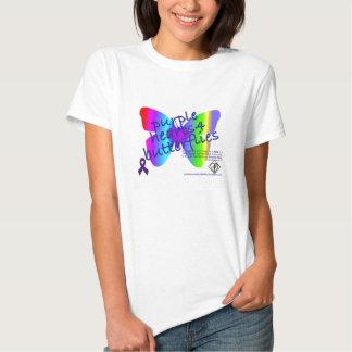 ¡Corazones púrpuras 4 camisetas de Bella de las Playeras
