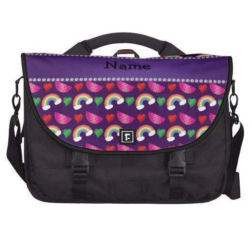 Corazones púrpuras conocidos de encargo de los bolsas de portátil