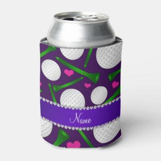 Corazones púrpuras conocidos personalizados de las enfriador de latas
