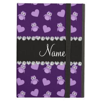 Corazones púrpuras conocidos personalizados del bú