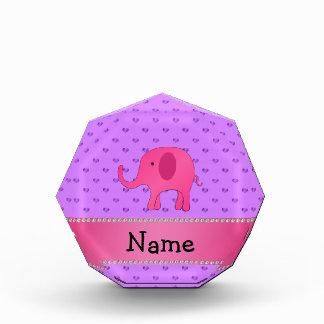 Corazones púrpuras conocidos personalizados del el