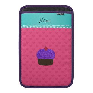 Corazones púrpuras conocidos personalizados del funda para macbook air