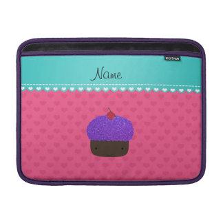 Corazones púrpuras conocidos personalizados del funda  MacBook