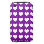 corazones púrpuras de la caja dura de la casamata iPhone 3 tough cárcasas