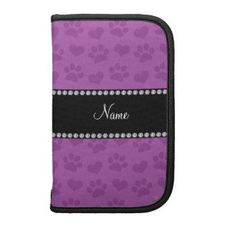 Corazones púrpuras de la lila conocida y prin pers organizadores