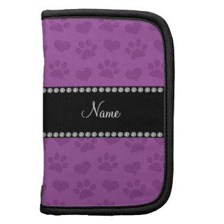 Corazones púrpuras de la lila conocida y prin pers planificadores