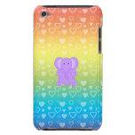 Corazones púrpuras del arco iris del elefante del  Case-Mate iPod touch carcasas